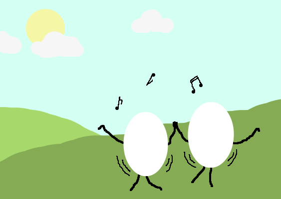 Dances With Eggs. Because really, why wouldn't you?