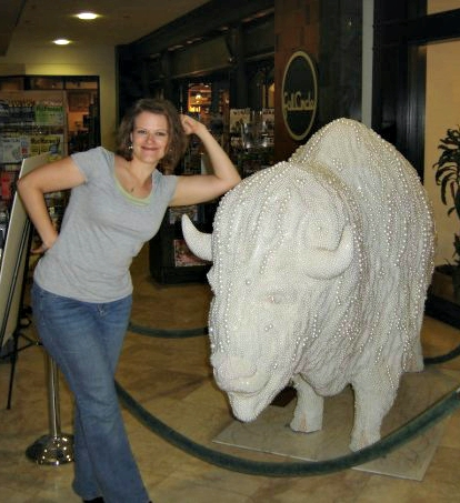 me with full circle's own pearl the buffalo on the night of the poem's birth